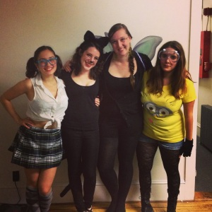 Christina, me, Jenn, and Savannah this Halloween.